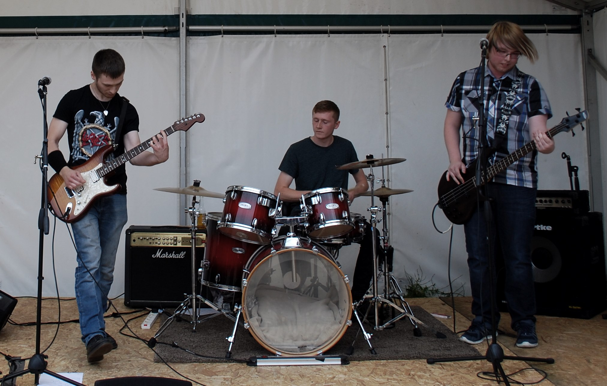On-stage at the 2019 Enderby Music Festival